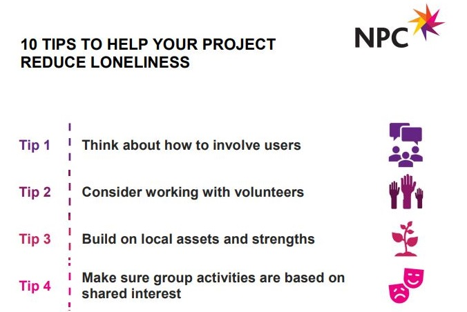 10 tips to help your project reduce loneliness