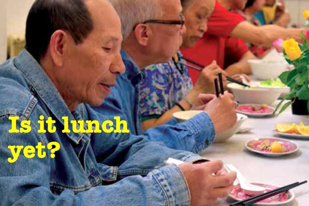 Is it lunch yet